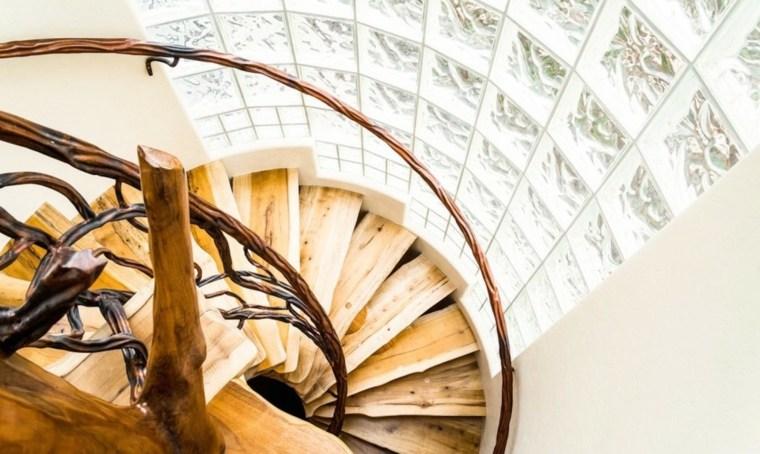 escaleras caracol originales madera devo