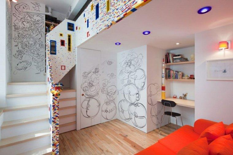escaleras colores opciones casa moderna ideas
