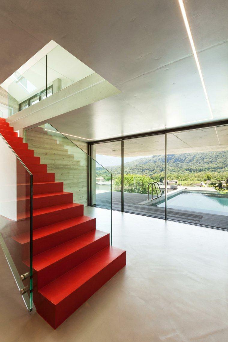 Barandillas De Cristal Para Escaleras Escaleras De Madera  ~ Barandillas De Cristal Para Escaleras Interiores