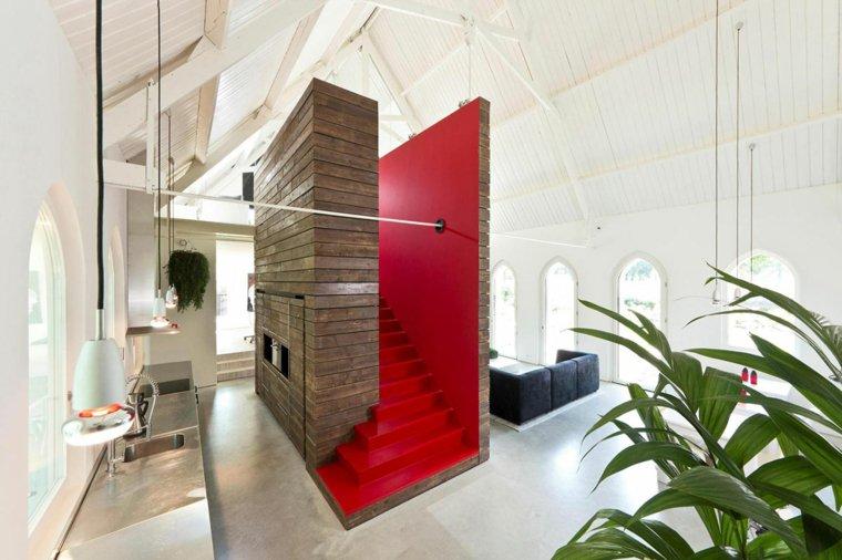 Escaleras de interior 74 diseños coloridos -