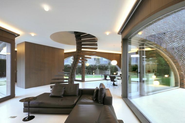 escaleras interior madera salon amplio ideas