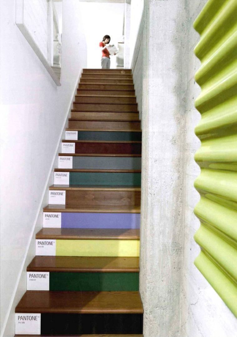 escaleras interior opciones colores oscuros ideas