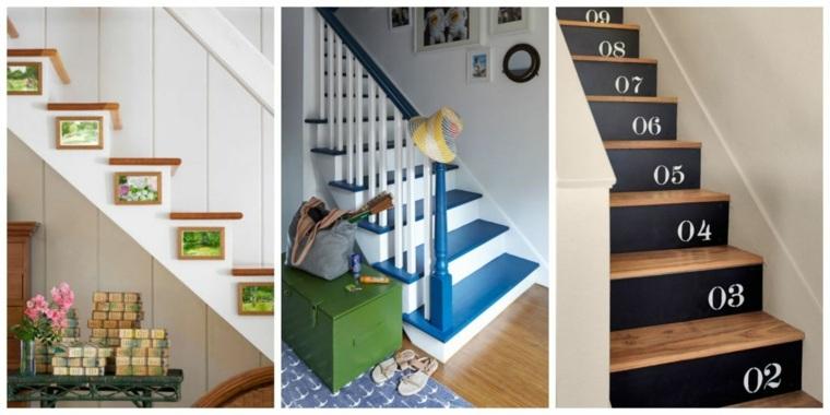 Escaleras de interior 74 diseños coloridos