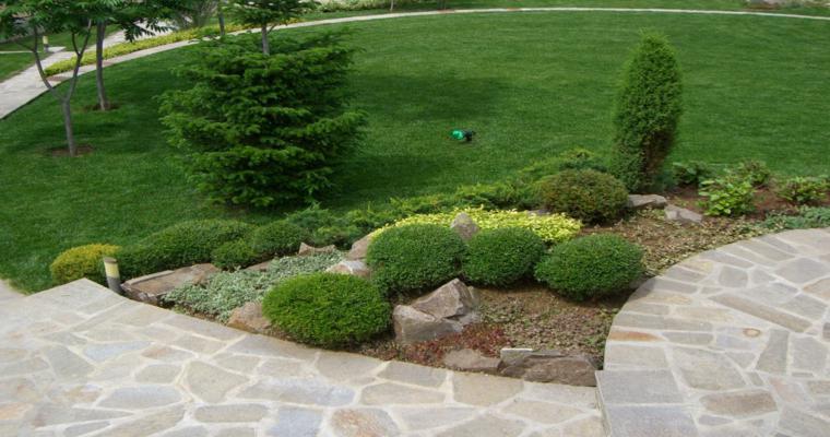 diseño jardines alpineum rocas