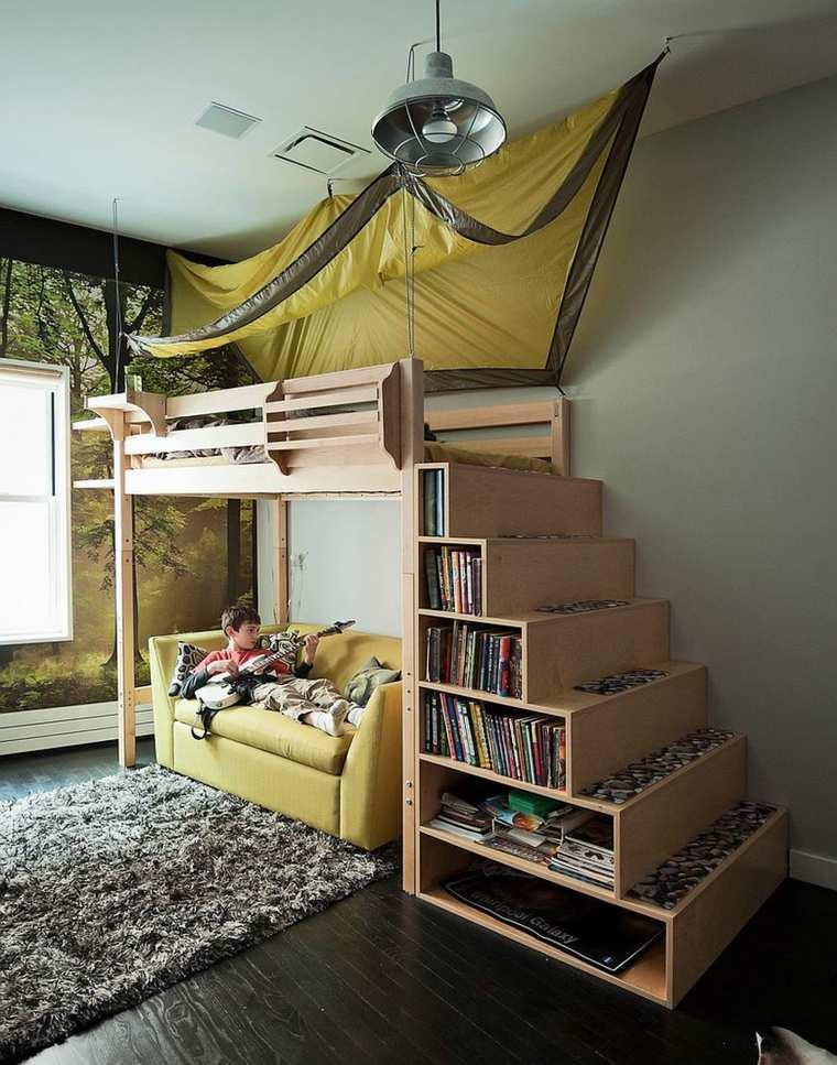 escaleras litera mueble estantes cajones
