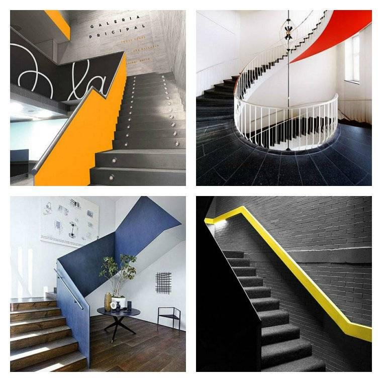 escaleras opciones barandillas colores ideas