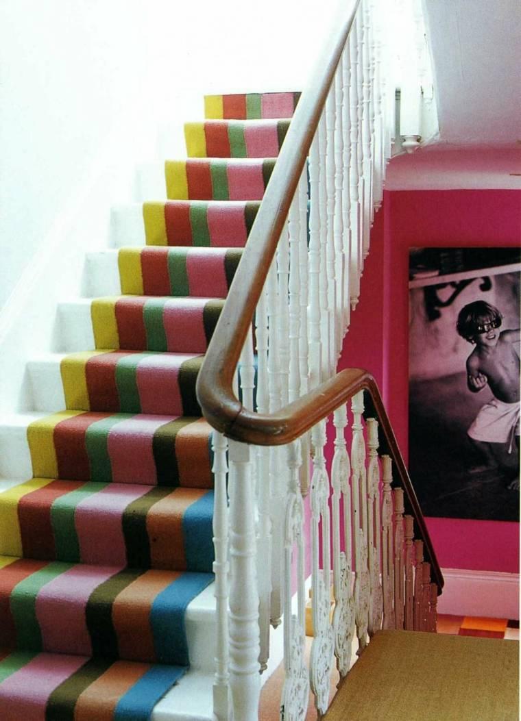 escaleras opciones casa moderna alfombra colores ideas