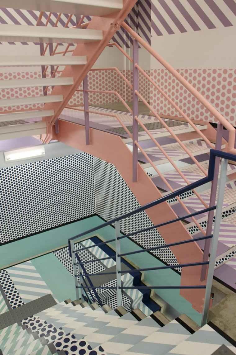 escaleras opciones casa moderna barandilla escalones colores ideas