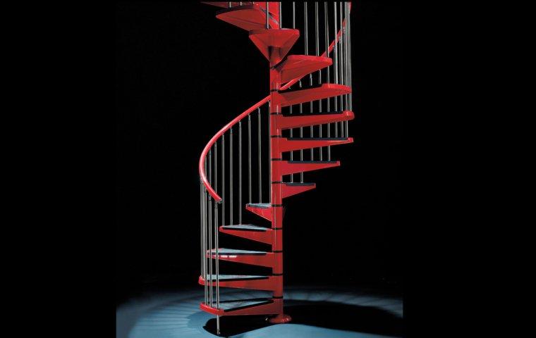 escaleras opciones casa moderna caracol rojo ideas