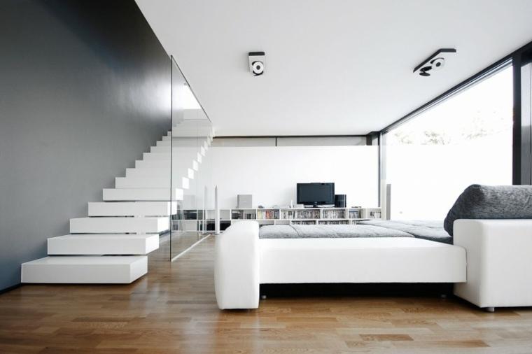 Escaleras de interior 74 dise os coloridos - Escaleras blancas ...
