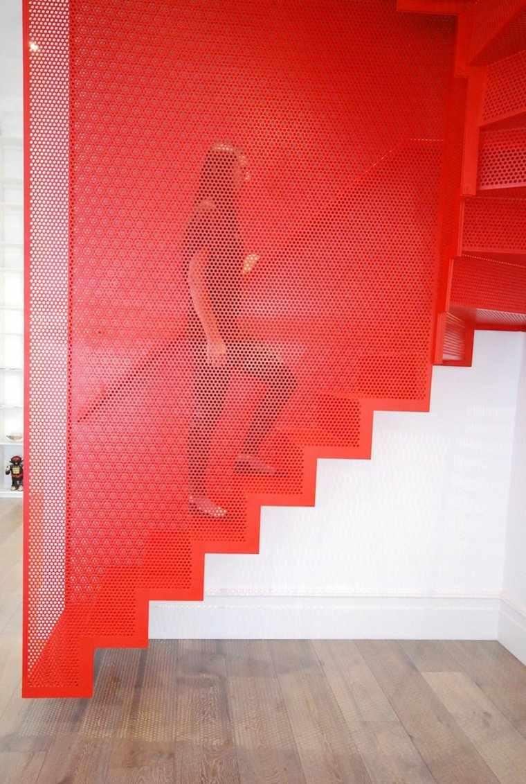 escaleras opciones casa moderna rojo blanco ideas