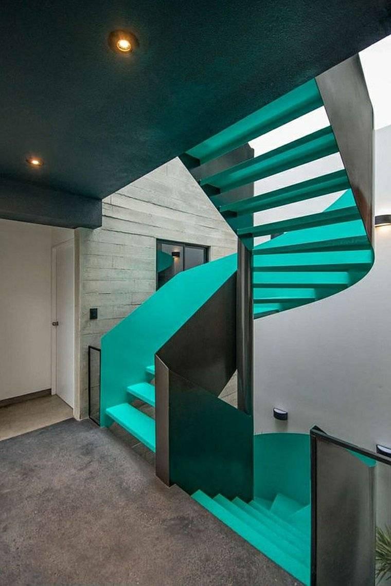 escaleras opciones casa moderna verdeazulado ideas