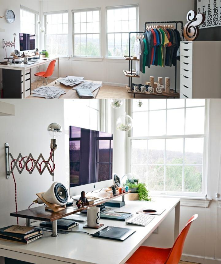 espacio pequeño colores frescos espacios blanco