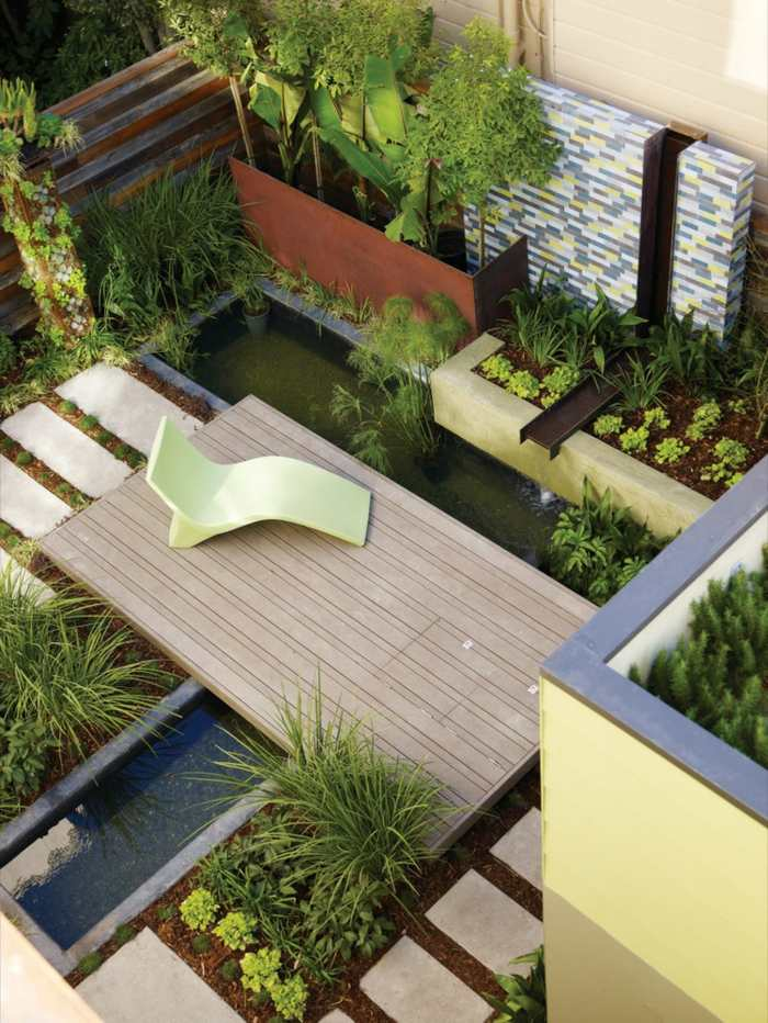 Espacios ideas y dise os de jardines modernos inspiradores for Diseno de jardines rectangulares