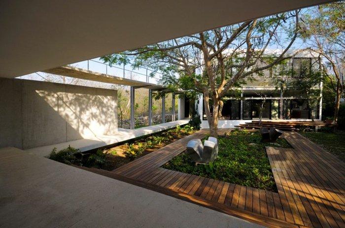 espacios ideas lineas moderna arboles efectos