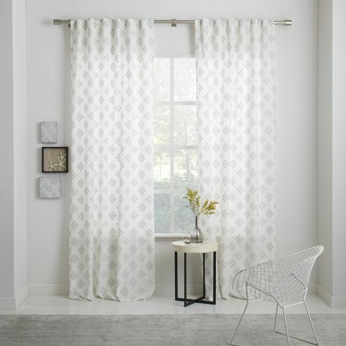 estampa geometrica cortinas plateada ideas