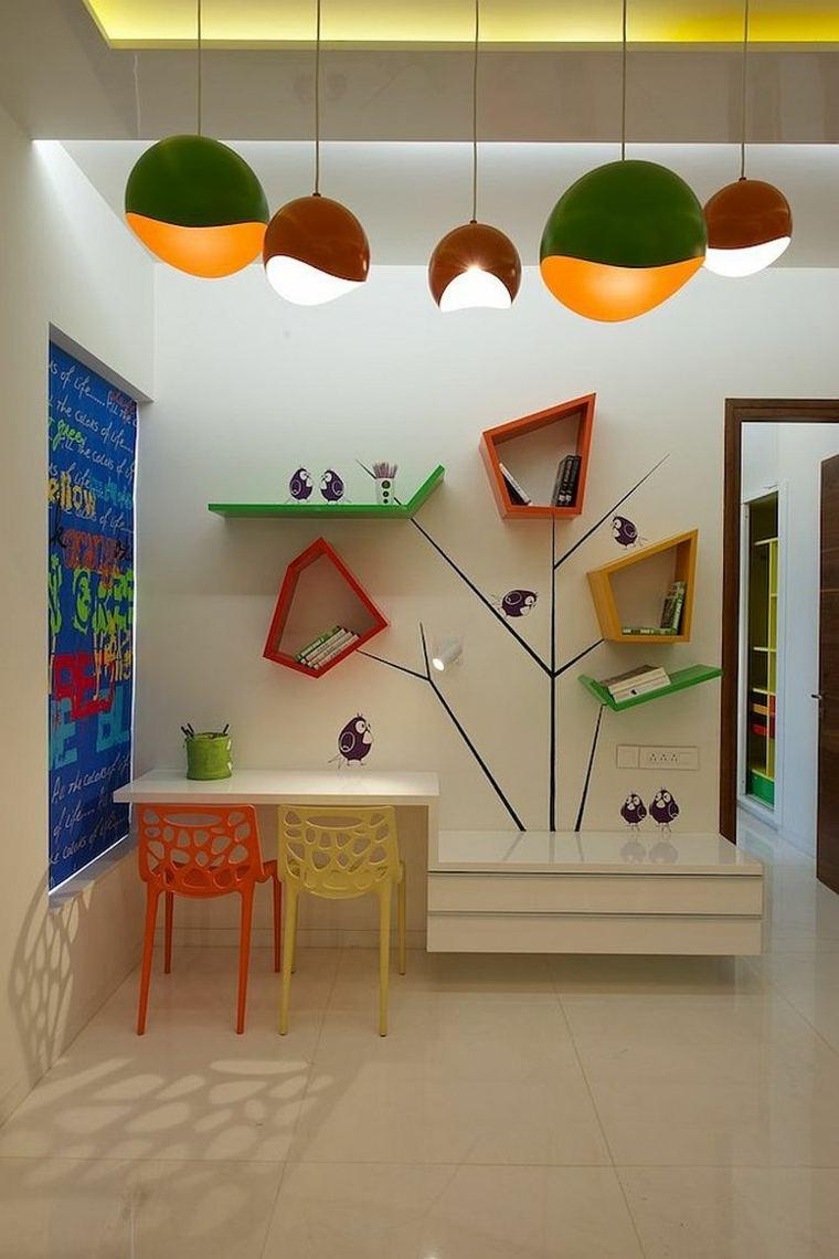 estanterias colores originales formas geométricas