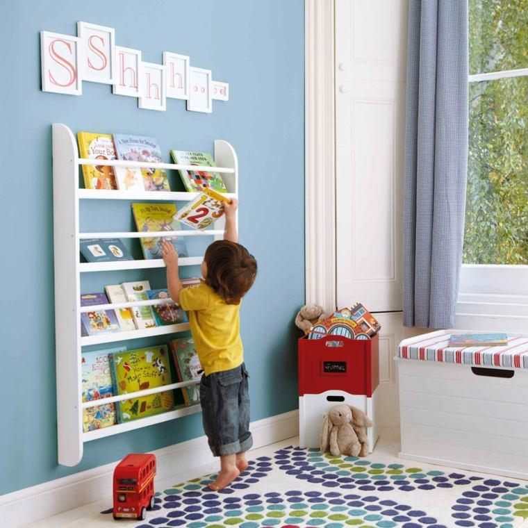 Estanterías para habitaciones infantiles - 50 ideas geniales - adea57a958cd