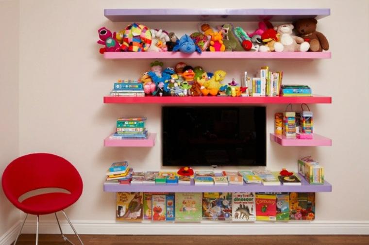 estantes de colores