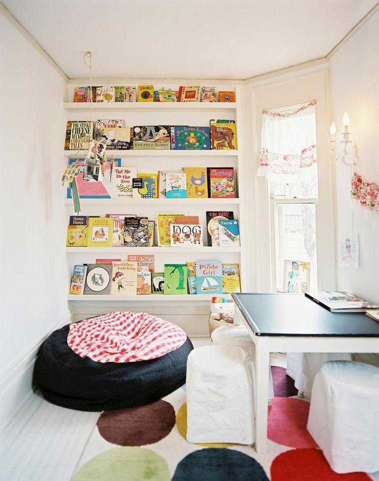 estantes integrados pared habitación originales