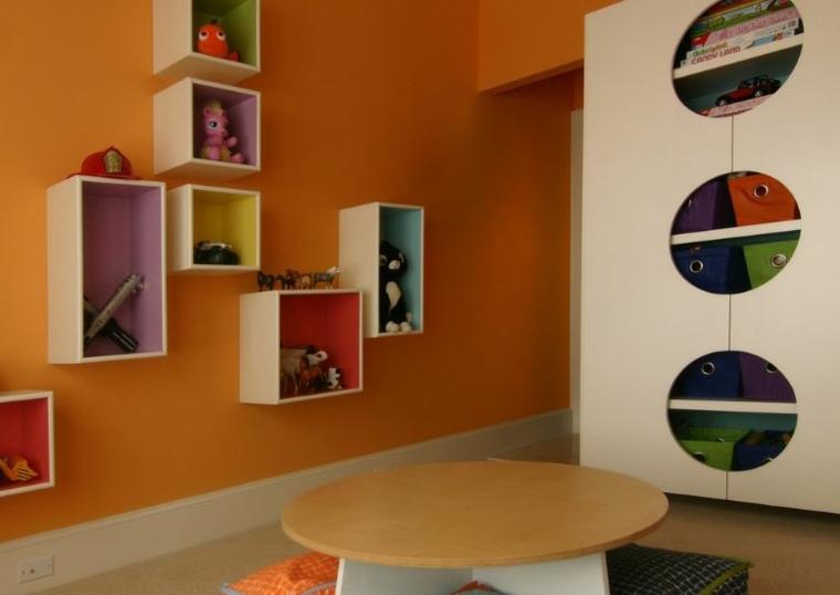 Estanter as para habitaciones infantiles 50 ideas geniales - Estantes de pared originales ...