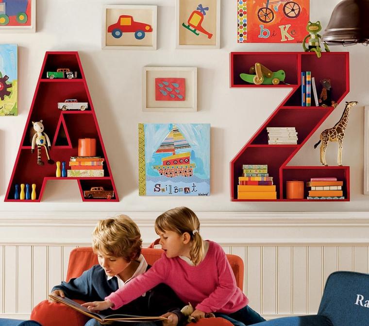 estantes originales formas letras colores