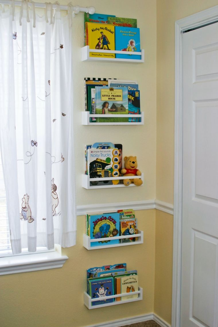 Estanter as para habitaciones infantiles 50 ideas geniales - Estantes para pared ...