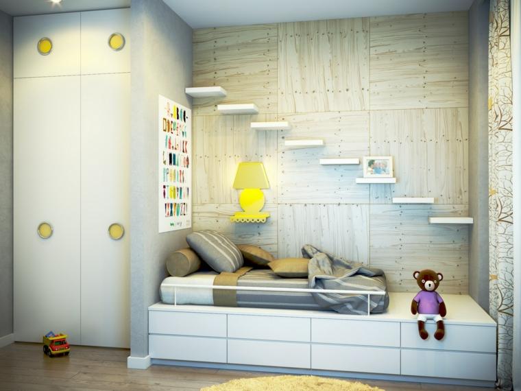 Estanter as para habitaciones infantiles 50 ideas geniales for Repisas para escaleras