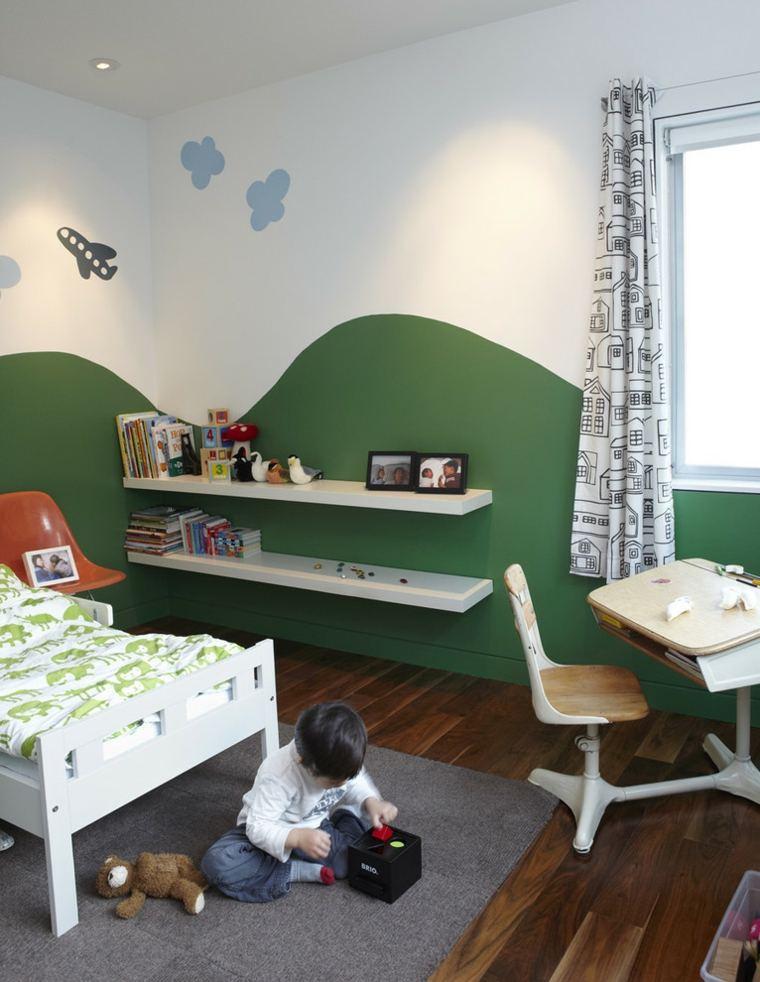 estantes pared decorativos verde
