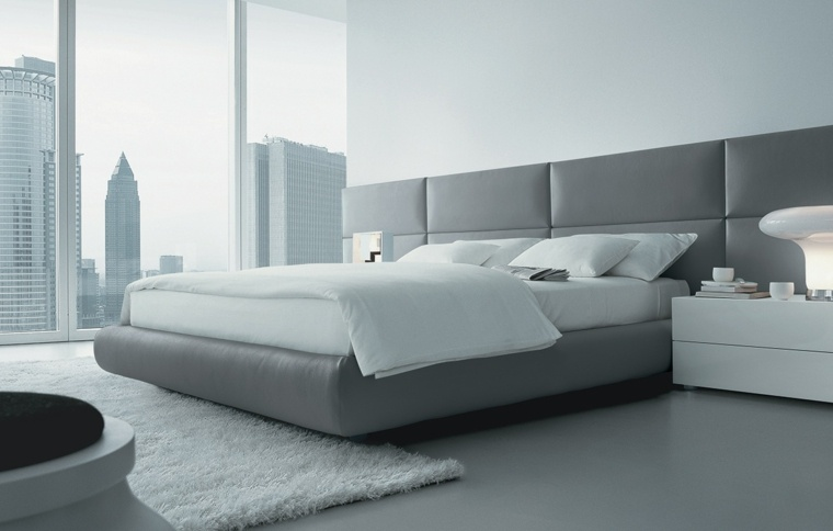 estupenda cama piel gris