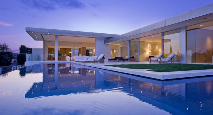 gardens modern design swimming pool