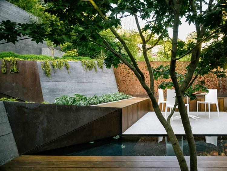 estupenda terraza modrna gradas