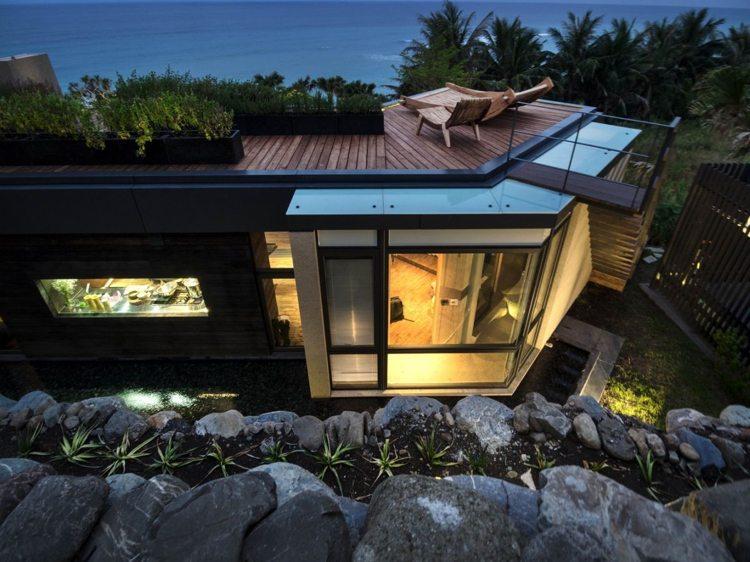 casa diseño moderno piedras