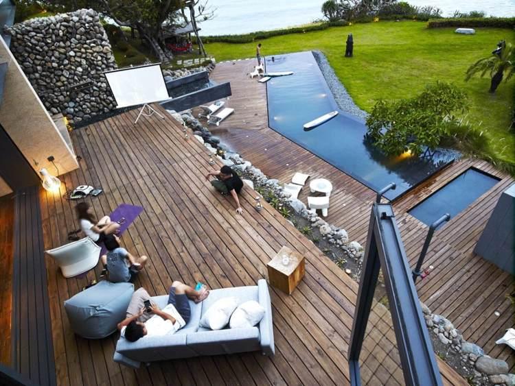 terraza moderna suelo madera