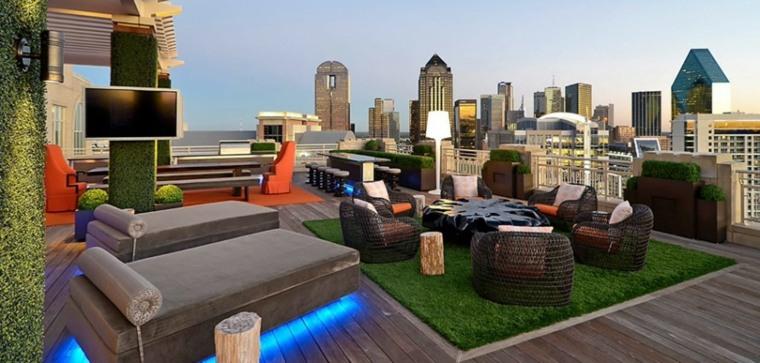 estupenda terraza diseño moderno