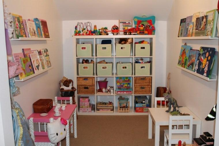estupendos estantes libros juguetes