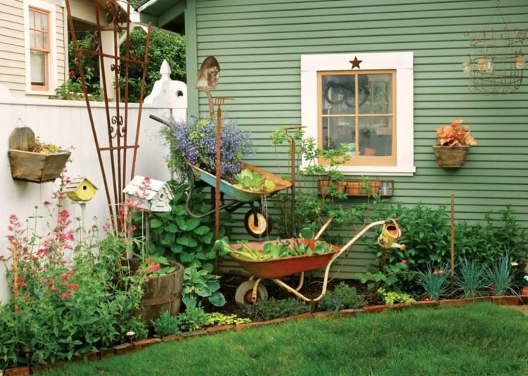 estupenda decoración esquina jardín