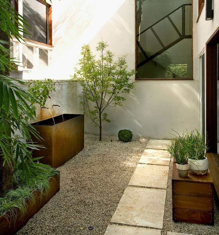 Ideas como decorar un patio peque o modern patio outdoor - Decoracion jardines pequenos ...