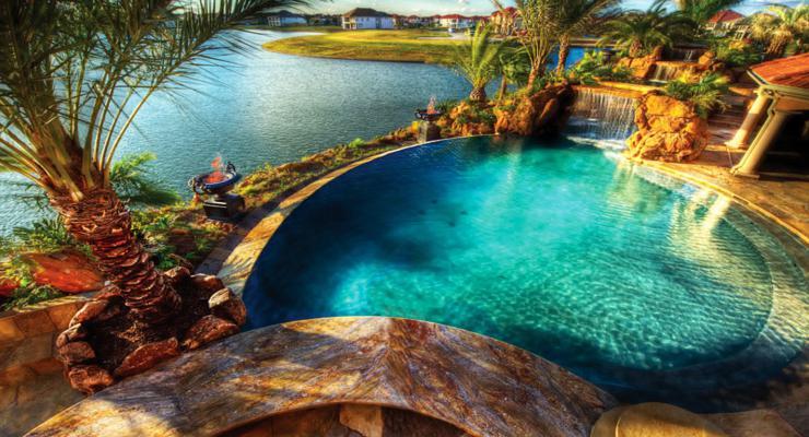 diseños piscinas modernas lago