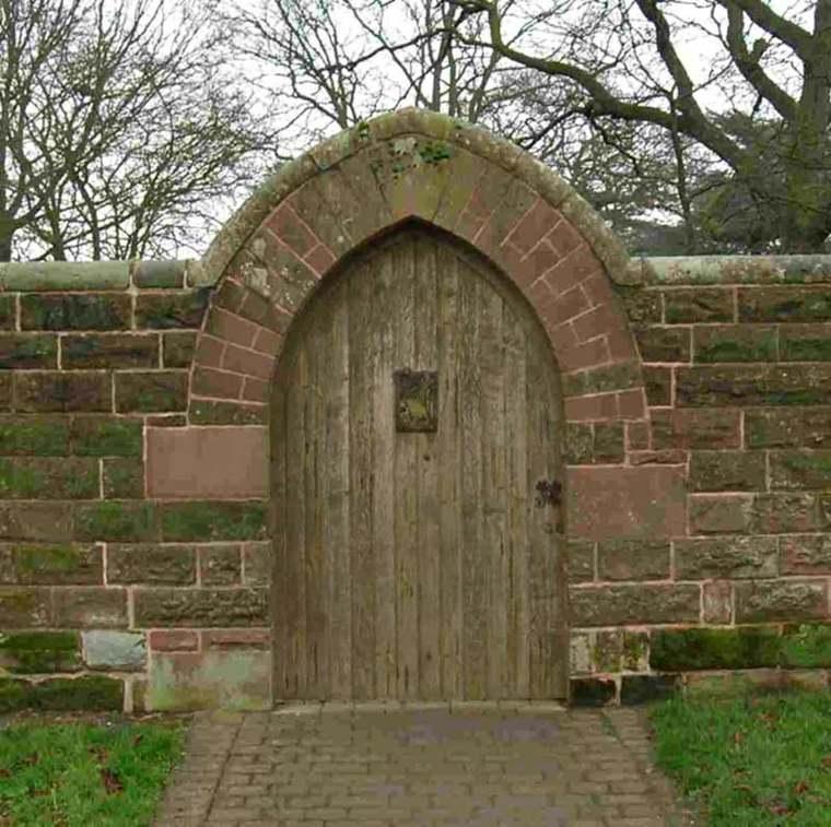 puerta de jardín muro