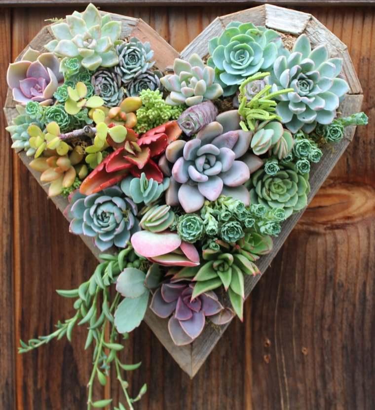 estupendo diseño cuadro corazón verde