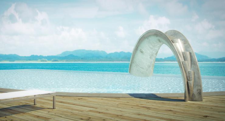 estupendo diseño piscina vistas