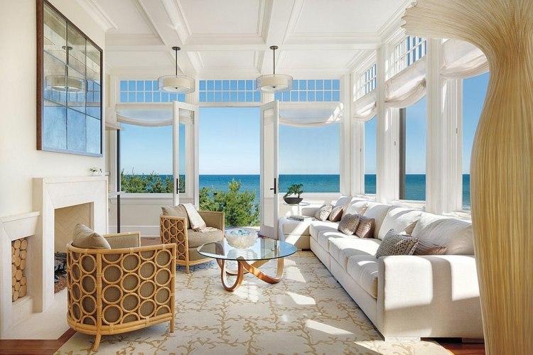 Salones y terrazas acristaladas de estilo playero 61 - Disenos de salones ...
