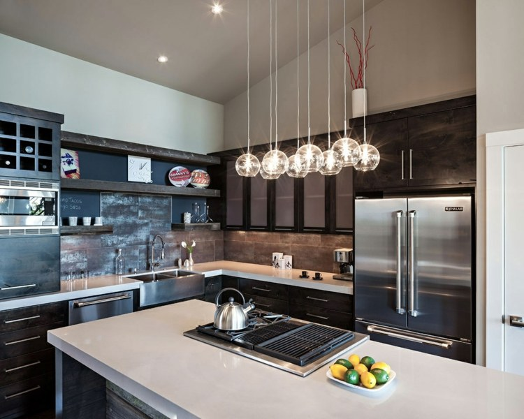 Lamparas De Cocina Modernas Para Una Iluminacion Practica - Luces-cocina