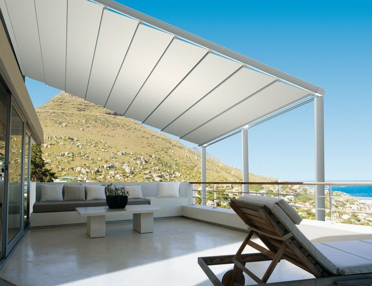 exteriores diseno moderno blanco pergola terraza ideas