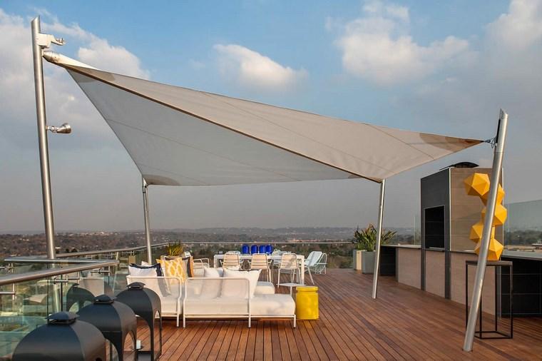 exteriores diseno moderno sombra terraza moderna ideas