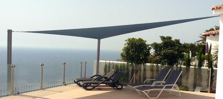 exteriores diseno moderno terraza vistas toldo ideas