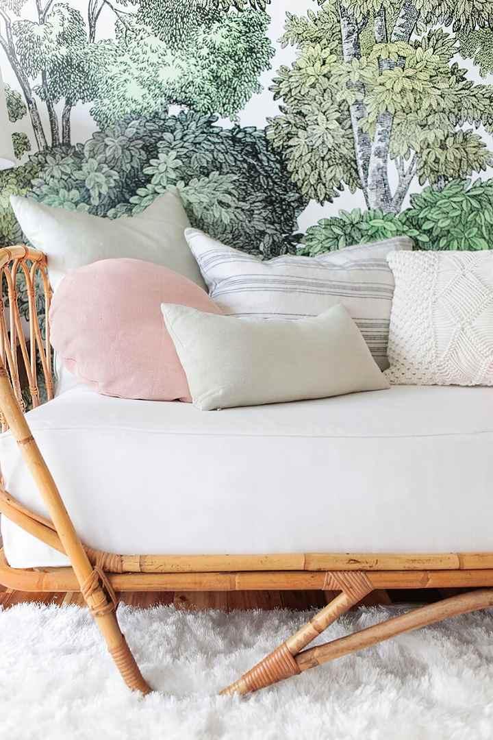 fibras naturales conceptos alfombras rosa