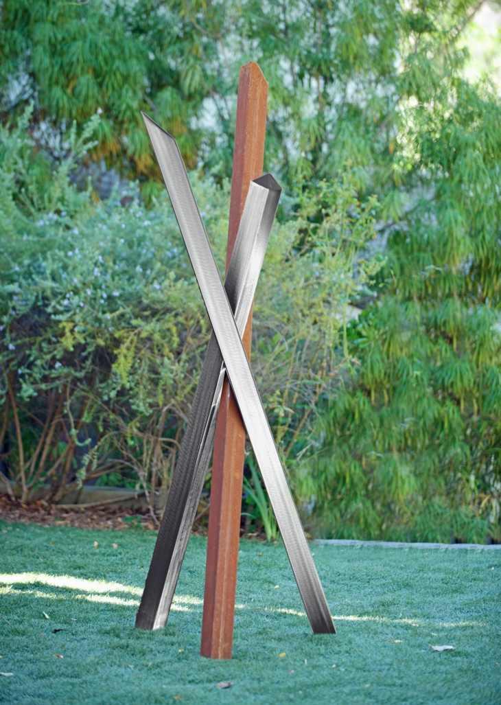 figuras exteriores creativo diseño metales