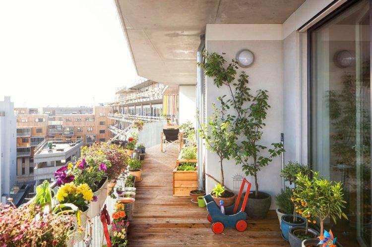 flores balcon largo estrecho opciones decoracion ideas